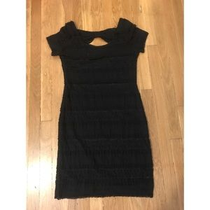 Black Lace Mini Dress by Soprano (size large)